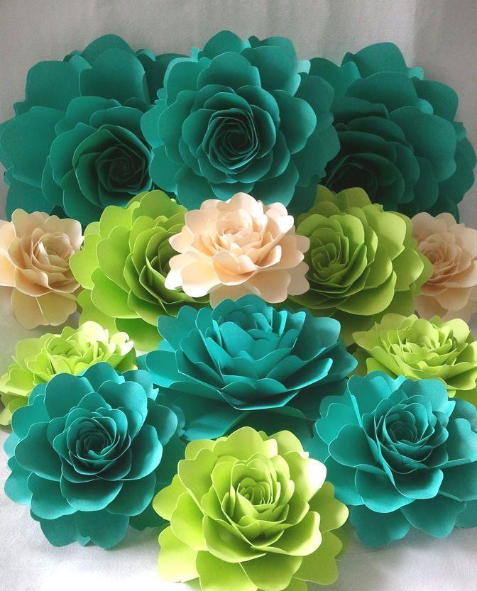 Большие бумажные цветы для декора своими руками