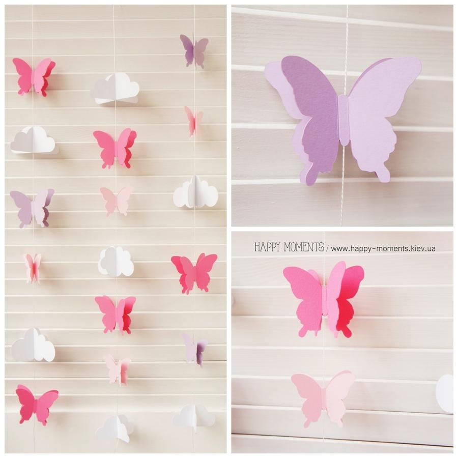 Бабочки из бумаги для украшения зала своими руками 69