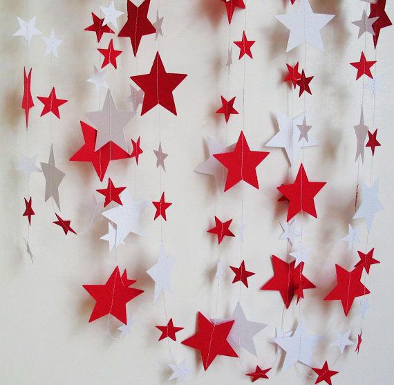 Гирлянда из звезд своими руками