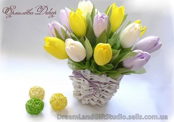 Цветы из конфет тюльпан