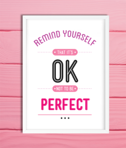 "Постер для офиса ""OK not to be perfect"""
