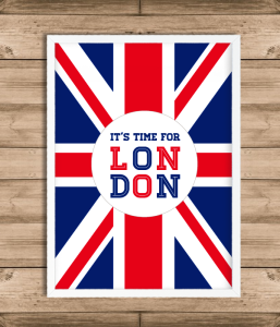 "Постер ""It's time for LONDON"""