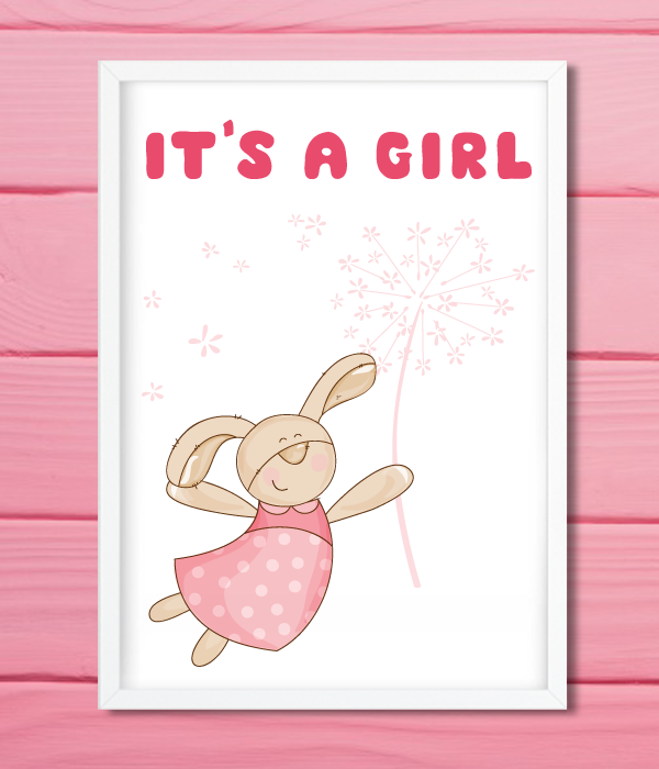 "Постер для baby shower ""It's a girl"""