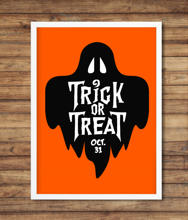 "Постер ""Trick or Treat"" (2 размера)"