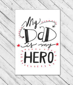 "Открытка ""My Dad is My Hero"""