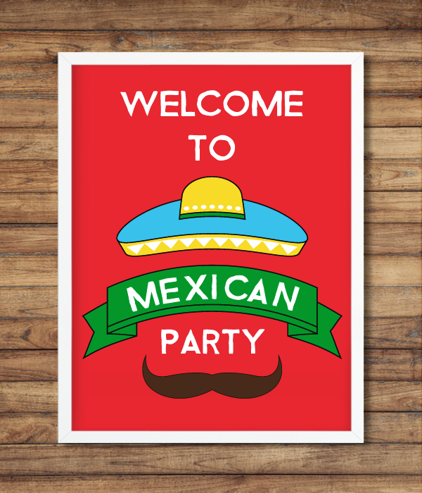 "Постер ""Welcome to Mexican Party"""