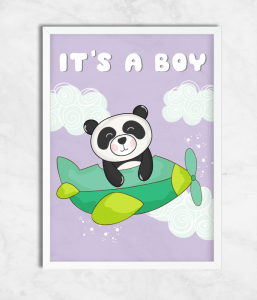 "Постер для baby shower ""It's a boy"""