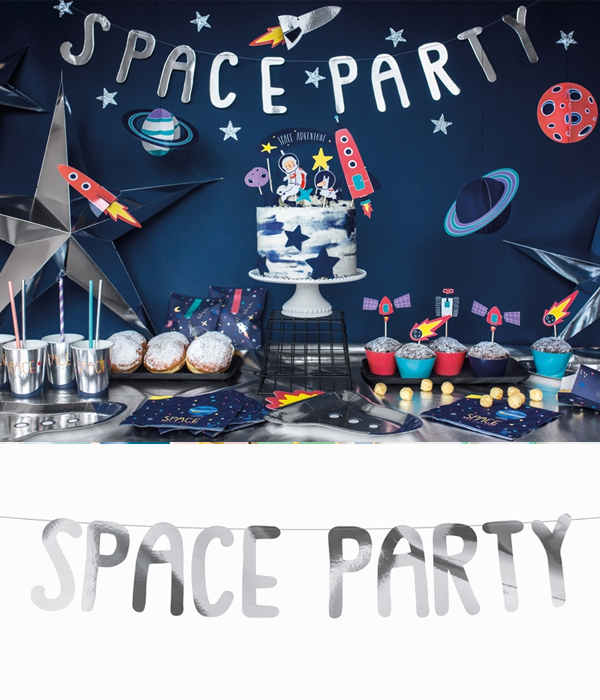 """Гирлянда """"SPACE PARTY"""" (SILVER)"""