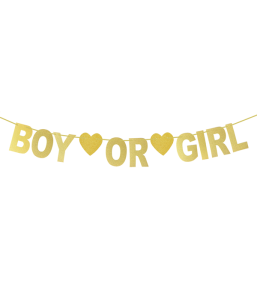 "Гирлянда ""BOY OR GIRL"" (золотая)"