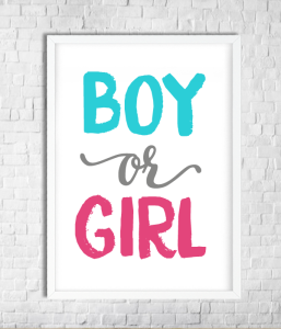 "Постер для гендер пати ""BOY OR GIRL"""