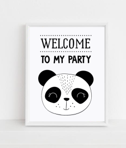 "Постер ""WELCOME TO MY PARTY"""