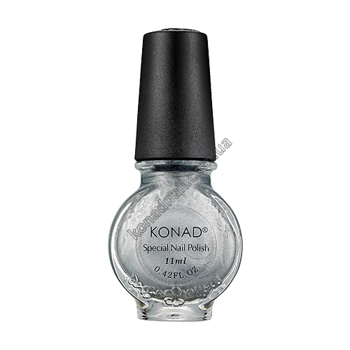 Лак для стемпинга Konad Powdery Silver (11ml)