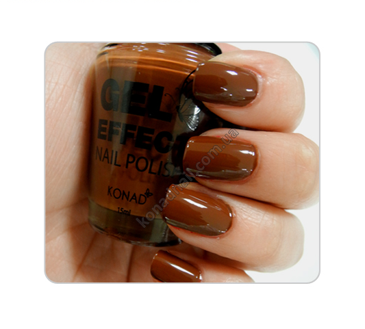 Лак для ногтей Konad Gel Effect Nail Polish - 09 Honeyed Chocolat 15 ml.