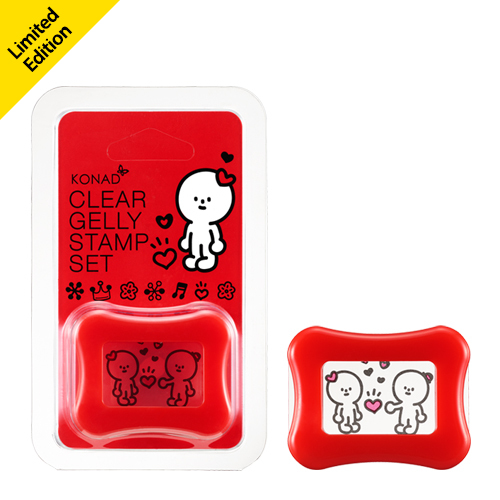 Прозрачный штамп KONAD Clear Jelly Stamp HAPPY Red