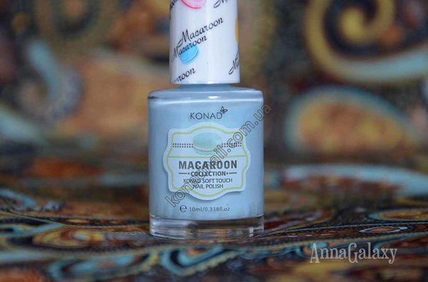 Konad soft touch nail polish Macaroon collection Blue Cheese Macaroon
