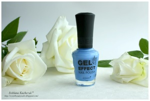 Konad Gel Effect Nail Polish GEP21 Blue Pearl & стемпинг Konad Square Image Plate 11 review