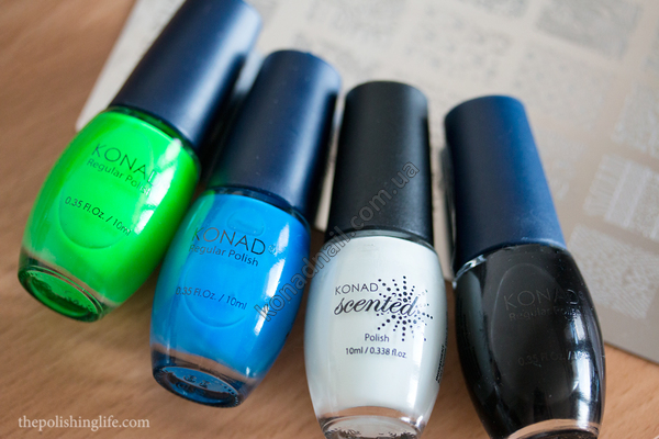 Konad Polish swatches & Square Image Plate 08 review