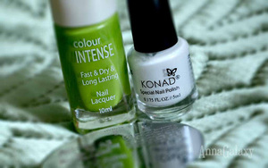 Стемпинг с диском Konad m101, лаком для ногтей Colour Intense и лаком для стемпинга Konad White