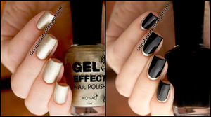 Konad Gel Effect - 31 Champagne Gold & 03 Luminous Black