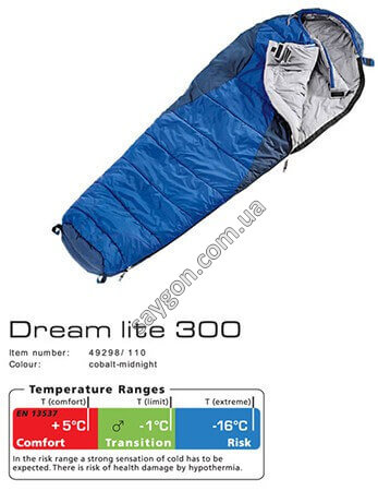 Спальник Deuter Dream Lite 300
