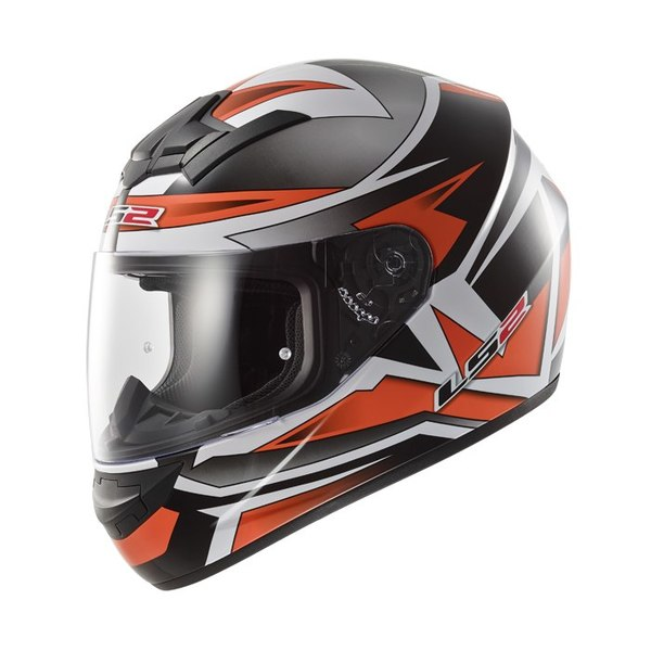 Шлем LS2 FF352 ROOKIE GAMMA BLACK-ORANGE