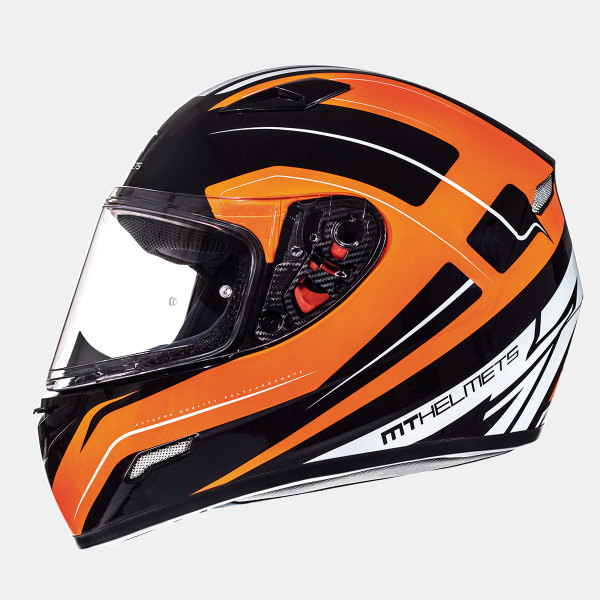Мотошлем MT Helmets Mugello Maker GLOSS BLACK FLUOR ORANGE