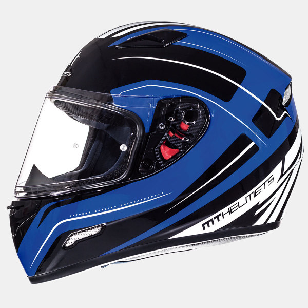 Мотошлем MT Helmets Mugello Maker GLOSS BLACK BLUE