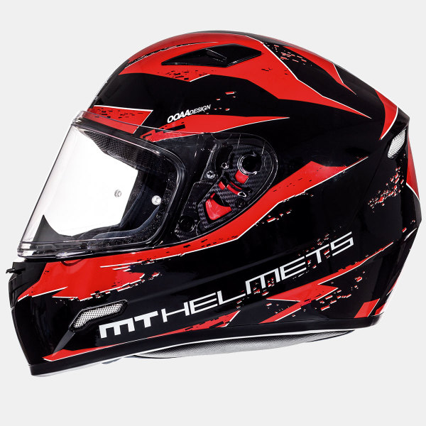 Мотошлем MT Helmets Mugello Vapor GLOSS BLACK INTENSE RED