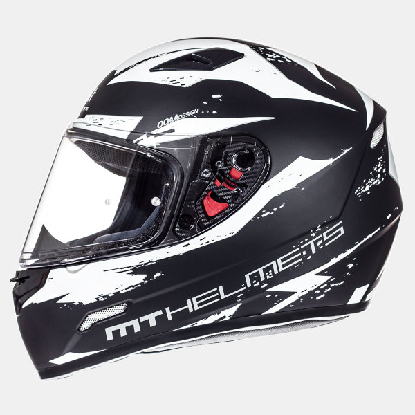 Мотошлем MT Helmets Mugello Vapor MATT BLACK WHITE