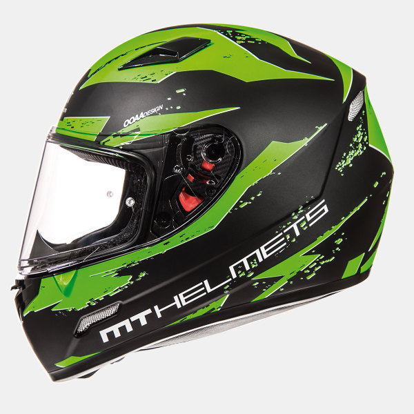 Мотошлем MT Helmets Mugello Vapor MATT BLACK GREEN