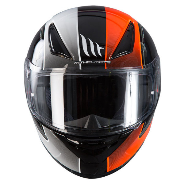 Мотошлем MT Helmets REVENGE Binomy Gloss (black-white-fluo-orange)