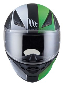 Мотошлем MT Helmets REVENGE Binomy Gloss(black-white-fluo-green)
