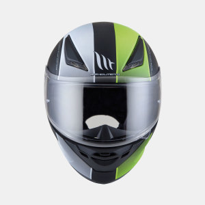 Мотошлем MT Helmets REVENGE Binomy Gloss(black-white-fluo-yellow)