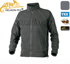 Флисовая куртка Alpha Grid Fleece Jacket - Shadow Grey