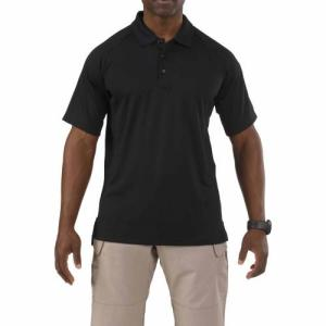 Performance Polo - Short Sleeve, Synthetic Knit - Black