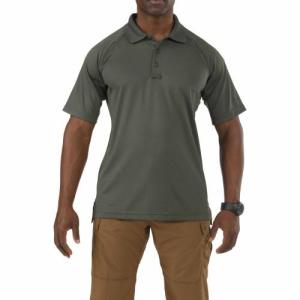 Performance Polo - Short Sleeve, Synthetic Knit - TDU Green