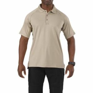 Performance Polo - Short Sleeve, Synthetic Knit -  Silver Tan