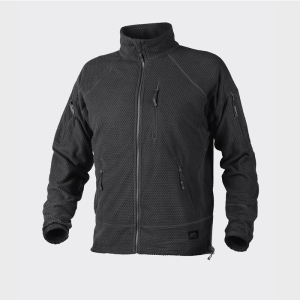 Куртка флисовая Alpha TACTICAL Grid Fleece - черный