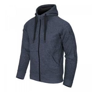 Тактическая куртка COVERT TACTICAL HOODIE (FULLZIP) - MELANGE BLUE