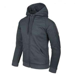 Тактическая куртка URBAN TACTICAL HOODIE (FULLZIP) - Black/Grey Melange