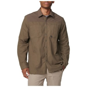 "Рубашка тактическая ""5.11 Tactical Ascension Long Sleeve Shirt"" Tundra"